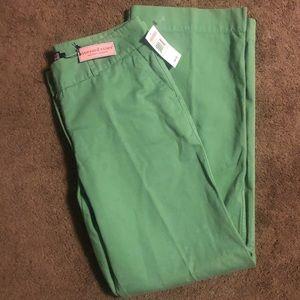 NWT Vineyard Vines Twill Pants Green Preppy